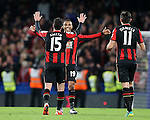 Bournemouth's Junior Stanislas celebrates at the final whistle<br /> <br /> Barclays Premier League - Chelsea v AFC Bournemouth - Stamford Bridge - England - 5th December 2015 - Picture David Klein/Sportimage