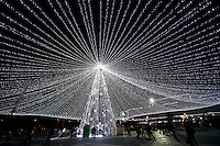 BOGOTA -COLOMBIA. 13-12-2014. Aspecto de la iluminación navideña en el CC Gran Estación en Bogotá, Colombia./ Aspect of the christmas lights at Gran Estacion mall in Bogota, Colombia. Photo: VizzorImage/ Gabriel Aponte / Staff.