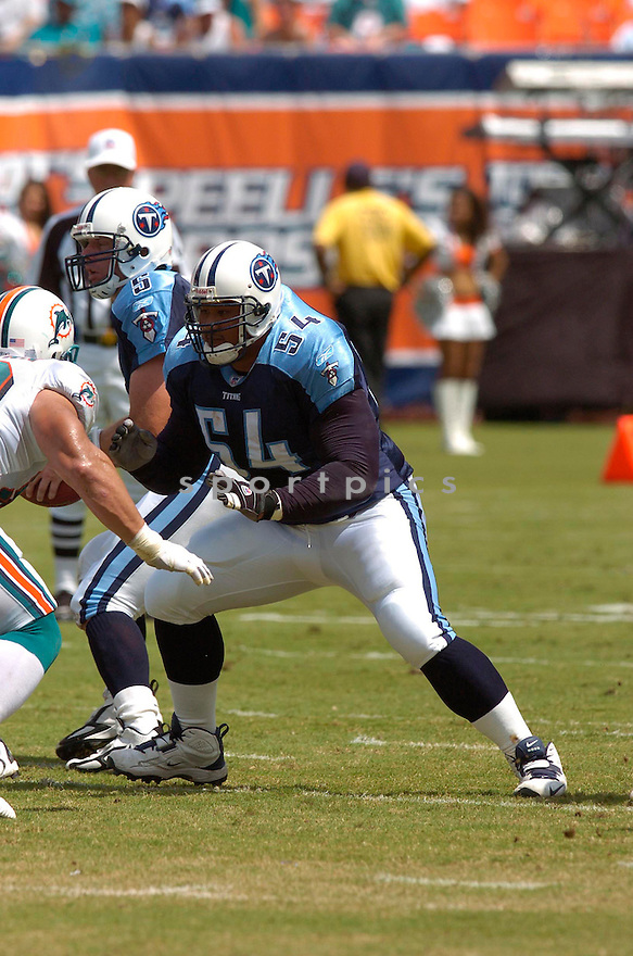 EUGENE AMANO, of the Tennessee Titans , during their game against the Miami Dolphins on September 24, 2006 in Miami FL...Dolphins win 13-10..Chris Bernacchi / SportPics.