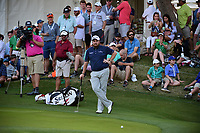Shane Lowry (IRL) waits for Sergio Garcia (ESP) to putt on 18  during round 1 of the World Golf Championships, Dell Technologies Match Play, Austin Country Club, Austin, Texas, USA. 3/22/2017.<br /> Picture: Golffile | Ken Murray<br /> <br /> <br /> All photo usage must carry mandatory copyright credit (&copy; Golffile | Ken Murray)