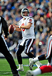 1 November 2009: Houston Texans' quarterback Matt Schaub looks for a receiver in the second quarter against the Buffalo Bills at Ralph Wilson Stadium in Orchard Park, New York, United States of America. The Texans defeated the Bills 31-10. Mandatory Credit: Ed Wolfstein Photo