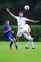 Luke Motruk of Swansea City in action during the Premier League u18 match between Swansea City AFC and Chelsea FC at Landore Training Ground, Wales, UK. Tuesday 11th September 2018
