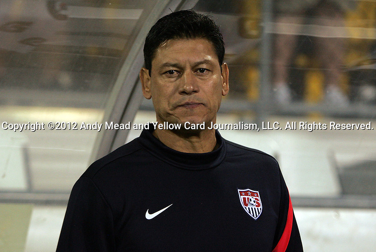 11 September 2012: U.S. assistant coach Martin Vazquez. The United States Men's National Team defeated the Jamaica Men's National Team 1-0 at Columbus Crew Stadium in Columbus, Ohio in a CONCACAF Third Round World Cup Qualifying match for the FIFA 2014 Brazil World Cup.