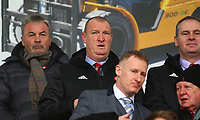 2nd February 2020; New Douglas Park, Hamilton, South Lanarkshire, Scotland; Scottish Premiership, Hamilton Academical versus Celtic;  Hamilton Academical manager Brian Rice watches from the stand as he serves a touchline ban