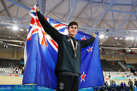 Campbell Stewart of New Zealand wins silver at the Men's 40km Points Race Final. Gold Coast 2018 Commonwealth Games, Track Cycling, Anna Meares Velodrome, Brisbane, Australia. 8 April 2018 © Copyright Photo: Anthony Au-Yeung / www.photosport.nz /SWpix.com