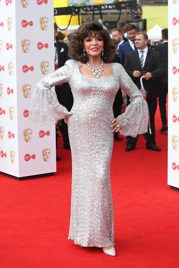 Joan Collins<br />  arriving at the Bafta Tv awards 2017. Royal Festival Hall,London  <br /> ©Ash Knotek