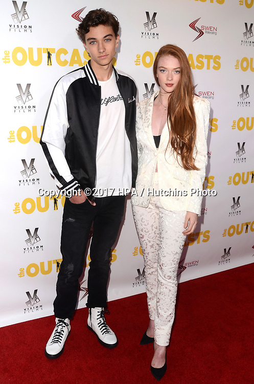 "LOS ANGELES - APR 13:  Gavin Casalegno, Larsen Thompson at the ""The Outcasts"" Premiere at the Landmark Regent Theater on April 13, 2017 in Westwood, CA"