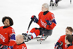 Lena Schroder (NOR), <br /> MARCH 13, 2018 - Para Ice Hockey : <br /> Qualification round between Norway 3-1 Sweden <br /> at Gangneung Hockey Centre during the PyeongChang 2018 Paralympics Winter Games in Pyeongchang, South Korea. <br /> (Photo by Yusuke Nakanishi/AFLO SPORT)
