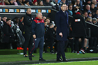 Swansea City manager Paul Clement and Swansea City assistant coach Nigel Gibbs during the Premier League match between Swansea City and Bournemouth at the Liberty Stadium, Swansea, Wales, UK. Saturday 25 November 2017