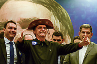 RIO DE JANEIRO, 11.10.2018 - ELEIÇÕES-2018- O candidato à Presidencia da Republica Jair Messias Bolsonaro, o Presidente do PSL GUstavo Bebianno durante encontro do Partido Social Liberal-PSL, no Hotel Windsor na Barra da Tijuca no Rio de Janeiro,(RJ), nesta quinta-feira, 11. (Foto: Vanessa Ataliba/Brazil Photo Press)
