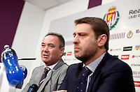 Juan Ignacio Martinez during his official presentation as Real Valladolid&acute;s new coach in Jose Zorrilla football stadium, in Valladolid, Spain. June 18, 2013. (Victor J Blanco/Alterphotos) .<br />