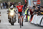 Toms Skujins (LAT) rounded off an impressive display of teamwork to take his 1st victory in the Trek-Segafredo stripes at the Trofeo Lloseta to Andratx, the 3rd day of the Mallorca Challenge. 28th January 2018.<br /> Picture: Luis Angel Gomez/BettiniPhoto | Cyclefile<br /> <br /> <br /> All photos usage must carry mandatory copyright credit (© Cyclefile | Luis Angel Gomez/BettiniPhoto)