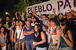 Inigo Errejon and other supporters during the start of the electoral campaign of Unidos Podemos, with the traditional putting up electoral posters. Jun 09,2016. (ALTERPHOTOS/Rodrigo Jimenez)