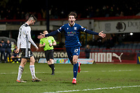 10th March 2020; Dens Park, Dundee, Scotland; Scottish Championship Football, Dundee FC versus Ayr United; Oliver Crankshaw of Dundee celebrates after scoring for 2-0 in the 91st minute