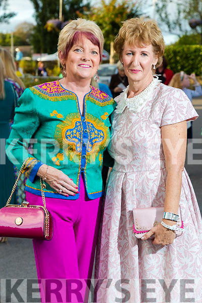 Rita Holly (Listowel) and Marie Maher (Duagh) at the Rose of Tralee fashion show at the dome on Sunday night.