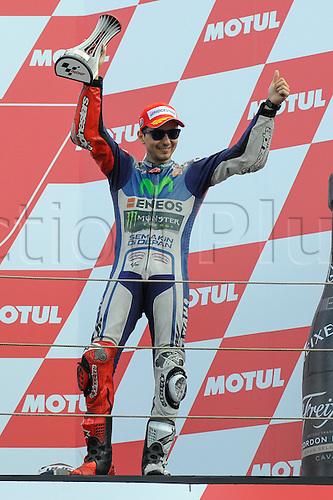 27.06.2015. Assen, Netherlands Dutch MotoGP. Motul TT Assen. Jorge Lorenzo (Movistar Yamaha) in 3rd place on podium