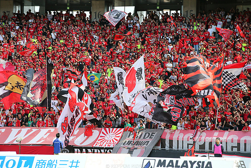 Urawa Reds fans (Reds), <br /> APRIL 16, 2017 - Football / Soccer : <br /> 2017 J1 League match between F.C. Tokyo 0-1 Urawa Reds <br /> at Ajinomoto Stadium, Tokyo, Japan. <br /> (Photo by AFLO SPORT)
