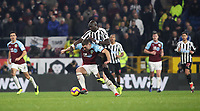 Burnley's Sam Vokes and Newcastle United's Mohamed Diame<br /> <br /> Photographer Rachel Holborn/CameraSport<br /> <br /> The Premier League - Burnley v Newcastle United - Monday 26th November 2018 - Turf Moor - Burnley<br /> <br /> World Copyright &copy; 2018 CameraSport. All rights reserved. 43 Linden Ave. Countesthorpe. Leicester. England. LE8 5PG - Tel: +44 (0) 116 277 4147 - admin@camerasport.com - www.camerasport.com