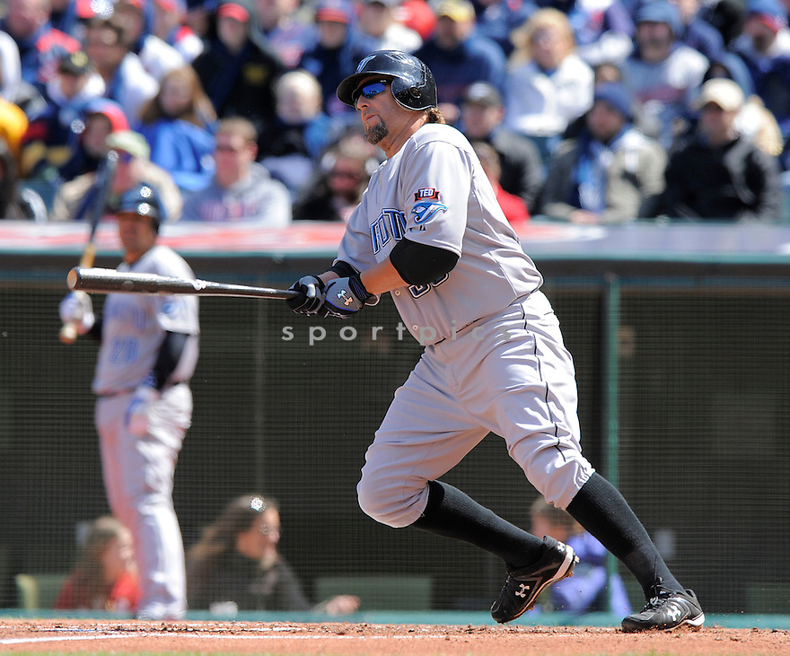 KEVIN MILLAR, of the Toronto Blue Jays  , in action  during the Blue Jays game against the Cleveland Indians  on April 11, 2009 in Cleveland, Ohio  The Blue Jays beat  the Indians 5-4.