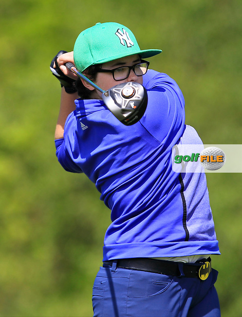 Cloddish Jones (Roscrae) on the 7th tee during Round 1 of the Irish Women's Open Strokeplay Championship at Dun Laoghaire Golf Club on Saturday 23rd May 2015.<br /> Picture:  Thos Caffrey / www.golffile.ie