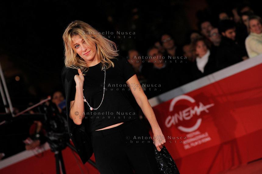 "Roma, 19 Ottobre, 2009. L'attrice Valeria Bruni Tedeschi al red carpet per il film ""Les Regrets"""