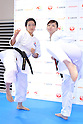 (L-R) <br /> Kiyo Shimizu, <br /> Ayumi Uekusa, <br /> AUGUST 4, 2016 - Karate : <br /> Japan Karatedo Federation holds a press conference after it was decided that <br /> the sport of karate would be added to the Tokyo 2020 Summer Olympic Games on August 3rd, 2016 <br /> in Tokyo, Japan. <br /> (Photo by AFLO SPORT)