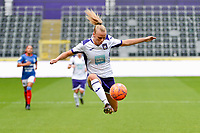 20190813 - ANDERLECHT, BELGIUM : Anderlecht's Sarah Wijnants (11) flying pictured during the female soccer game between the Belgian RSCA Ladies – Royal Sporting Club Anderlecht Dames and the Northern Irish Linfield ladies FC , the third and final game for both teams in the Uefa Womens Champions League Qualifying round in group 8 , Tuesday 13 th August 2019 at the Lotto Park Stadium in Anderlecht , Belgium  .  PHOTO SPORTPIX.BE | STIJN AUDOOREN