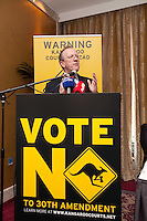 NO REPRO FEE. VOTE NO TO THE 30TH AMENDMENT. Professor Gerry Whyte, Trinity College Dublin, Constitutional Law expert is pictured at the Official launch of the 'NO' Campaign at the The Westbury Hotel, Dubliin. Picture James Horan/Collins.