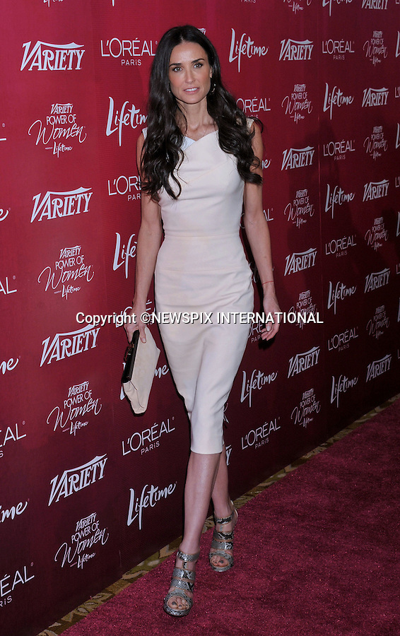 """DEMI MOORE.attends the Variety's 3rd Annual Power of Women Luncheon at the Beverly Wilshire Four Seasons Hotel, Beverly Hills, Los Angeles_23/09/2011.Mandatory Photo Credit: ©Crosby/Newspix International. .**ALL FEES PAYABLE TO: """"NEWSPIX INTERNATIONAL""""**..PHOTO CREDIT MANDATORY!!: NEWSPIX INTERNATIONAL(Failure to credit will incur a surcharge of 100% of reproduction fees).IMMEDIATE CONFIRMATION OF USAGE REQUIRED:.Newspix International, 31 Chinnery Hill, Bishop's Stortford, ENGLAND CM23 3PS.Tel:+441279 324672  ; Fax: +441279656877.Mobile:  0777568 1153.e-mail: info@newspixinternational.co.uk"""