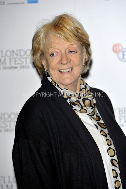 WWW.ACEPIXS.COM....US Sales Only....October 15 2012, London....Maggie Smith at the photocall for 'Quartet' during the 56th BFI London Film Festival on October 15 2012 in London....By Line: Famous/ACE Pictures......ACE Pictures, Inc...tel: 646 769 0430..Email: info@acepixs.com..www.acepixs.com