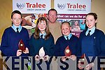 CHAMPIONS: Ardfert who were the champions in the Tralee Credit Union National School, Table Quiz under 13 with their teacher on Sunday in the Brandon Hotel, Tralee. L-r: Fionn Ennis Kavanagh, Grace Egan, Toma?s Hanafin (Teacher), Michael Ryan and Claire Crowley.  ...............