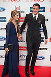 Atletico de Madrid´s Diego Godin and Sofia Herrera attend the 2015 As Sports Awards ceremony in Madrid, Spain. December 14, 2015. (ALTERPHOTOS/Victor Blanco)