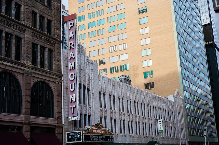 10/31/12 - Concert Venues - Downtown. A general view of the Paramount in downtown Denver, Colorado.