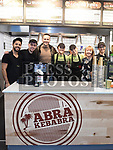 Keith Barry with staff at the official opening of Abrakebabra in Scotch Hall. Photo:Colin Bell/pressphotos.ie