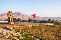 Hot air balloons over the Valley of the Kings in Luxor
