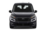 Car photography straight front view of a 2019 Ford Transit-Connect XLT 5 Door Combi Front View
