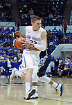 February 28, 2015 - Colorado Springs, Colorado, U.S. -  Air Force guard and CLASS Award candidate, Max Yon #22, drives the lane during an NCAA basketball game between the Utah State Aggies and the Air Force Academy Falcons at Clune Arena, U.S. Air Force Academy, Colorado Springs, Colorado.   Utah State defeats Air Force 74-60.