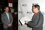 Seth Rudetsky and Matthew Broderick attends the Seth Rudetsky Book Launch Party for 'Seth's Broadway Diary' at Don't Tell Mama Cabaret on October 22, 2014 in New York City.