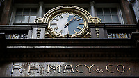 NEW YORK, NY - FEBRUARY 25:  The Macy's headquarter logo is pictured on February 25, 2019 in Manhattan, New York. Earnings reports of $2.53 is expected for Macy's Inc. with a share on sales of $8.4 billion before the market opens Feb. 26,.  (Photo by Eduardo Munoz Alvarez/VIEWpress)