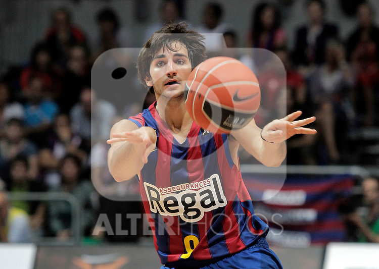 FC Barcelona's Ricky Rubio during ACB Supercup Semifinal match.September 24,2010. (ALTERPHOTOS/Acero)