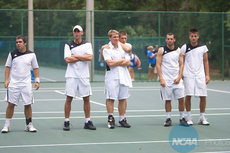 16 MAY 2009:  Armstrong Atlantic State University takes on Barry University during the Division II Men's Tennis Championship held at Sanlando Park in Altamonte Springs, FL.  Armstrong Atlantic State University beat Barry University 5-4 to claim the national title.  Chris Livingston/NCAA Photos