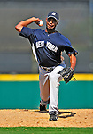 11 March 2009: New York Yankees' pitcher Jose Veras on the mound during a Spring Training game against the Detroit Tigers at Joker Marchant Stadium in Lakeland, Florida. The Tigers defeated the Yankees 7-4 in the Grapefruit League matchup. Mandatory Photo Credit: Ed Wolfstein Photo