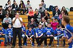 TORRINGTON,  CT-031919JS11- Torrington Middle School unified basketball head coach, teammates and fans, look on as Torrington played Avon Middle School Tuesday at Torrington Middle School. It was the first home game for Torrington. <br /> Jim Shannon Republican American