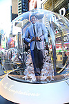 """Times Square Alliance unveiled its first season of Broadway """"Show Globes"""", Jelani Remy from """"Ain't Too Proud"""" in Times Square on November 04, 2019 in New York City."""