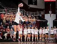 Stanford, CA - October 11, 2019: Kate Formico at Maples Pavilion. The Stanford Cardinal swept the Arizona Wildcats 3-0.