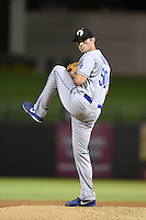 Glendale Desert Dogs pitcher Matt Magill (50) during an Arizona Fall League game against the Peoria Javelinas on October 14, 2014 at Surprise Stadium in Surprise, Arizona.  Glendale defeated Peoria 9-0.  (Mike Janes/Four Seam Images)