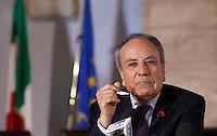 20130412 ROMA-CRONACA: CONFERENZA STAMPA DEL PRESIDENTE DELLA CORTE COSTITUZIONALE FRANCO GALLO