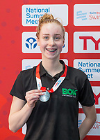 Picture by Allan McKenzie/SWpix.com - 05/08/2017 - Swimming - Swim England National Summer Meet 2017 - Ponds Forge International Sports Centre, Sheffield, England - Keelan Fitton takes silver in the womens 17yrs 50m breaststroke.