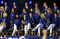 Carlota Ciganda (EUR) gets picked to play in the morning foursomes during the Opening Ceremony of the Solheim Cup 2019 at Gleneagles Golf CLub, Auchterarder, Perthshire, Scotland. 12/09/2019.<br /> Picture Thos Caffrey / Golffile.ie<br /> <br /> All photo usage must carry mandatory copyright credit (© Golffile | Thos Caffrey)