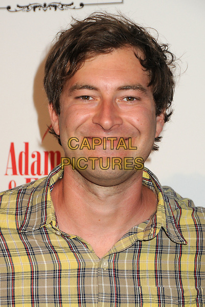 "Mark Duplass.""A Good Old Fashioned Orgy"" Los Angeles Special Screening held at Arclight Cinemas, Hollywood, California, USA..August 25th, 2011.headshot portrait yellow check beige .CAP/ADM/BP.©Byron Purvis/AdMedia/Capital Pictures."